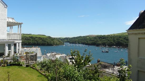 Fowey Hall: View on walking from hotel to town