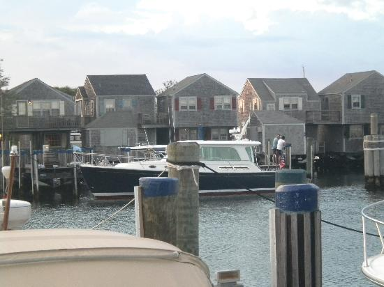 The Cottages & Lofts at The Boat Basin: view across harbor from Zena's Coffin