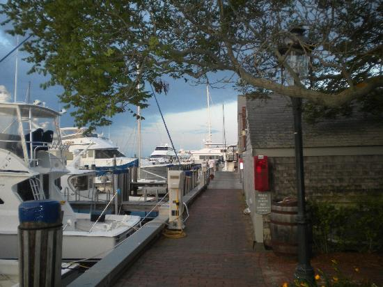 The Cottages at Nantucket Boat Basin: view to end of Swain's Wharf
