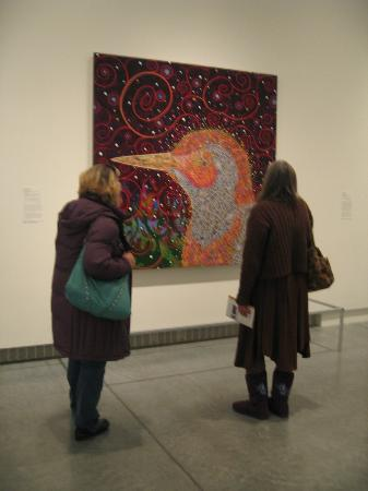 Virginia Museum of Fine Arts: My friends consider an interesting bird.