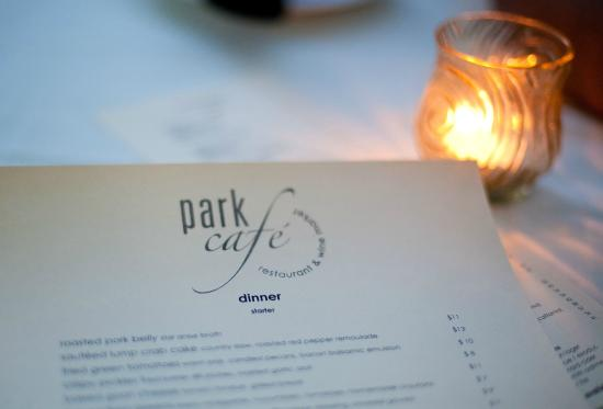 Park Cafe: Menu (for detailed - go to their website)