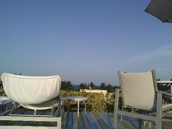 The Hotel of South Beach: View from the rooftop pool - looking out to the ocean