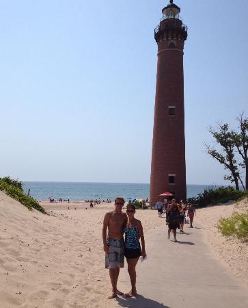 Dunes Express Inn & Suites: Lake Michigan Lighthouse