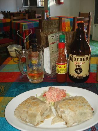 Mariscos Cisneros: Shrimp Burrito