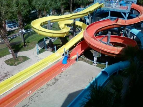 Affordable Family Resort: Water slides