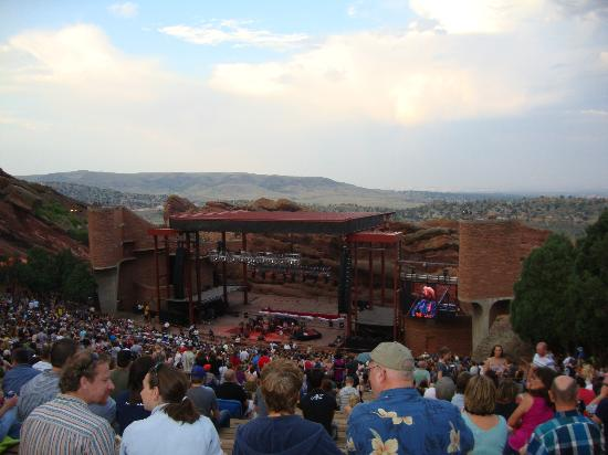 Red Rocks Park and Amphitheatre: From Row 44, Denver in the background