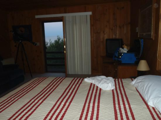 Camp 61 Bunkhouse: Loft Bedroom with a view of Lake Superior.