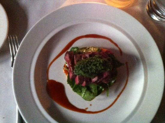 Public: Grilled Venison Loin on a potatoe pancake with oyster mushrooms