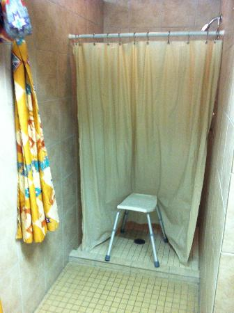 American RV Park: One of the public shower stalls