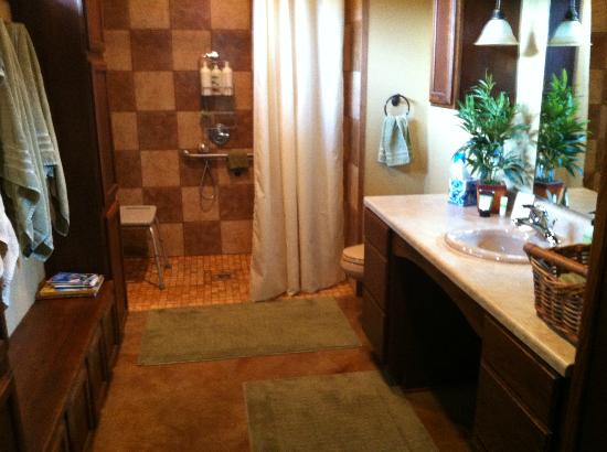 Hartzell House Bed and Breakfast: Patriot's Suite Bathroom