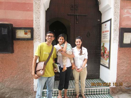 Angsana Riads Collection Morocco - Riad Bab Firdaus : At entrance of Riad Bab Firdaus with Chadia