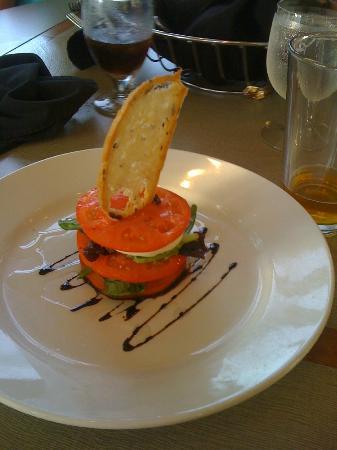 Plantation on Crystal River: tomato & mozzarella app