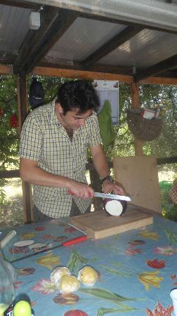 The Spice Lab: Paolo preparing the eggplant