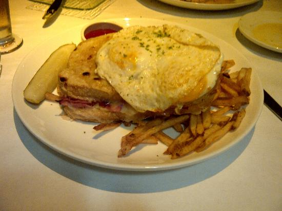 The Hearthstone Restaurant: Croque Monsieur with Egg