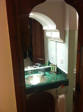 Riad Al Badia: traditional, clean, simple and well appointed bathroom