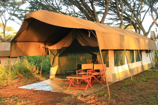 Lemala Ngorongoro Tented Camp: view of our tent from the path