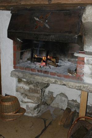 A La Crecia: le coin cheminée