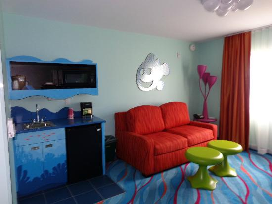 Disney's Art of Animation Resort: Living Quarters with pull out sofa