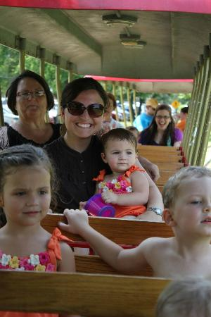 Τζάκσον, Μισισιπής: The train. It was a nice way to end the day and dry off from the splash pad before leaving.
