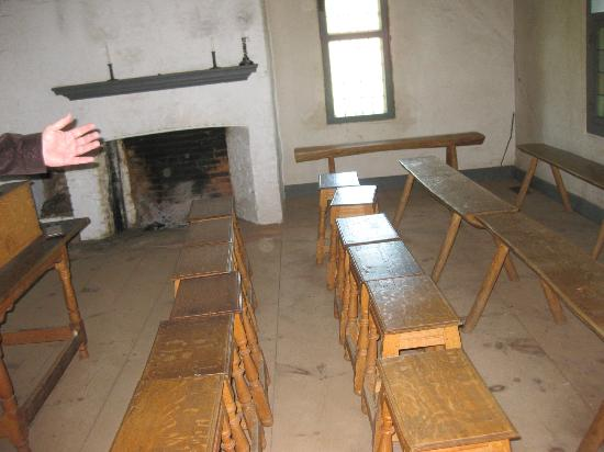 Historic Richmond Town: We Sat In The Little School House Chairs And Were  Given A