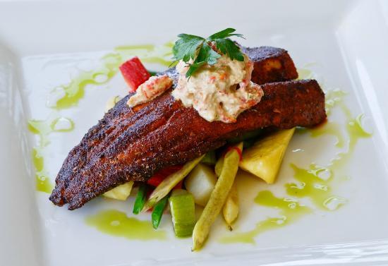 Bixby's: Blackened Missouri Trout with Crayfish Tartar