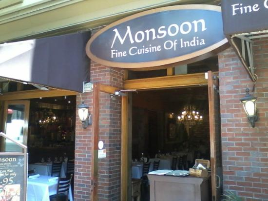 Monsoon Fine Cuisine India San Diego Downtown Menu