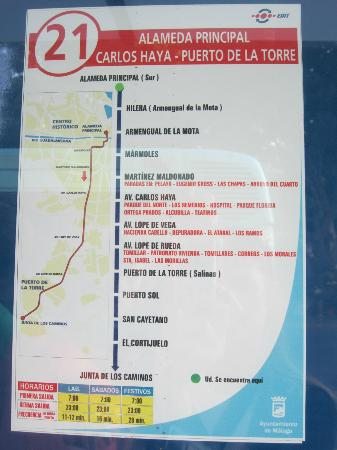 el villa guadalupe bus map for us it was line 21 and 1 3 euro