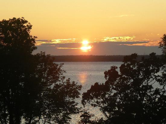Waverley Park: Evening Sunset- view from tent