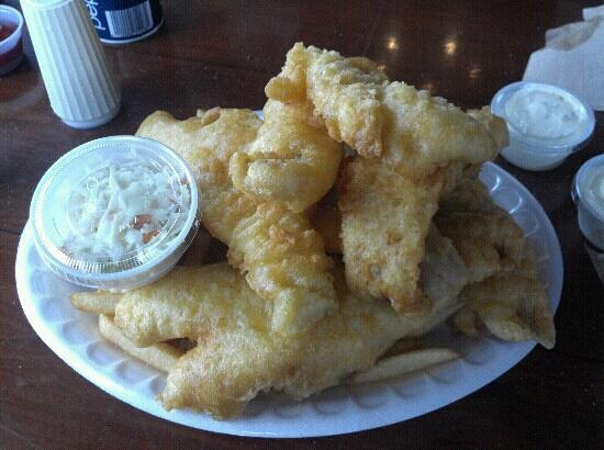 Little Jacks's Seafood Restaurant and Lobster Pool: 1lb Haddock diner! $15 and enough for 2-3 people