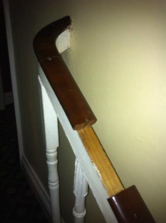 Lyndon Guest House : rampe de l'escalier