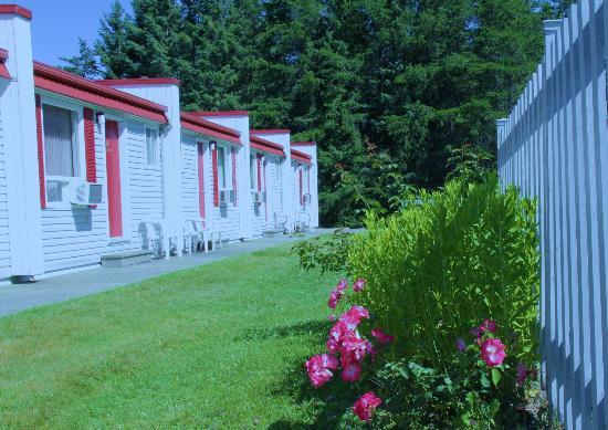 Motel De La Pente Douce : rooms in the back side