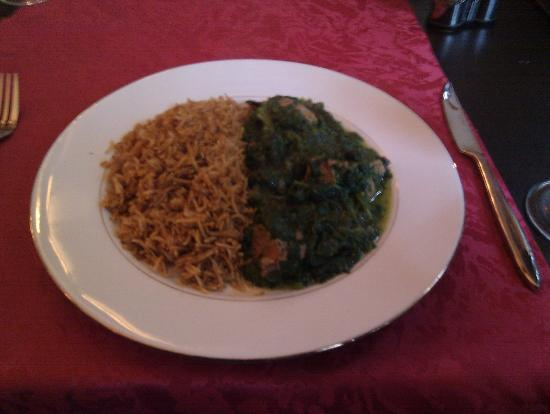 Kaboul : lamb with spinach