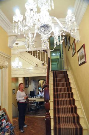 Kilronan House: entrance & staircase