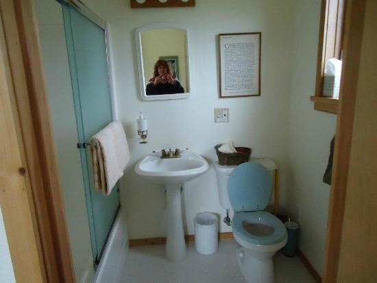 Blue Heron Bed and Breakfast, Cabins and Guesthouse at Glacier Bay Gustavus: Bathroom of the private room