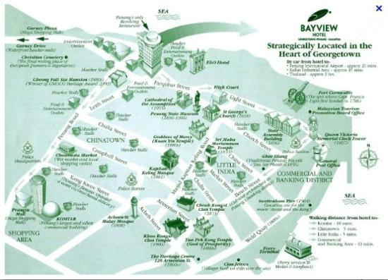 a map from the Bayview website Picture of Bayview Hotel Georgetown