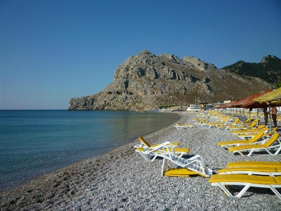 Kolymbia Beach Hotel: Spiaggia del villaggio