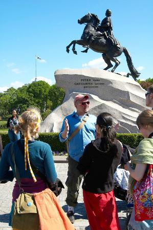 Anglo Tourismo Boat and Walking Tours : Free walking tour, the Bronze Horsman