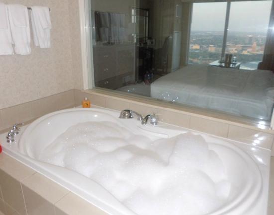 View From Jacuzzi Tub Picture Of Hilton Niagara Falls Fallsview Hotel Suites Niagara Falls Tripadvisor