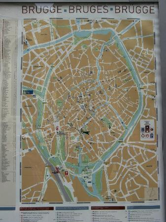 Town map Picture of Historic Centre of Brugge Bruges TripAdvisor
