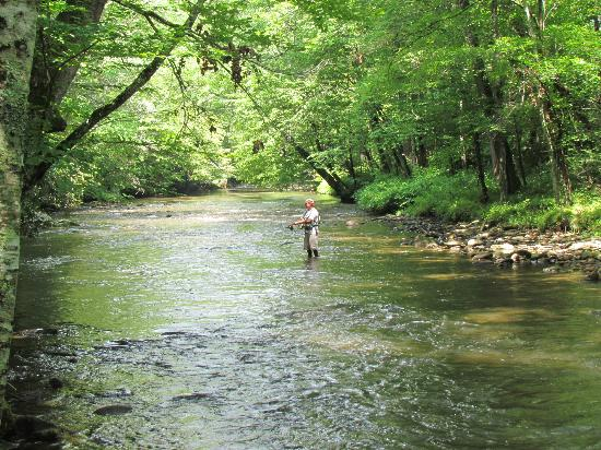 Oconaluftee Visitor Center : Fly Fisherman