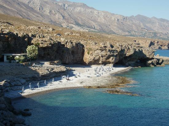 Vritomartis Naturist Resort: Filaki Beach used by the hotel