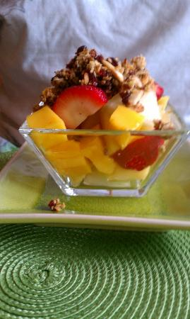 ‪‪Country Villa B&B Inn & Day Spa‬: fruit and granola