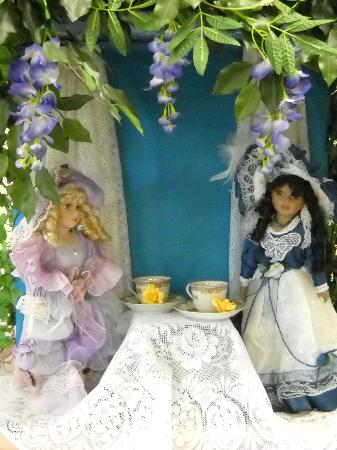 Enchanted Mansion Doll Museum: Cute dolls for sale in the Tea Party Room!