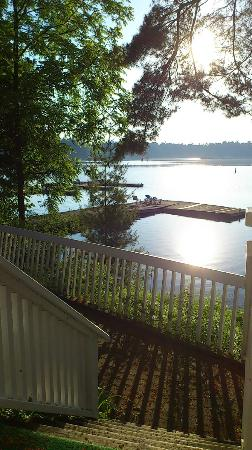 Terraceview suite 312 view of dock on Lake Rosseau (Clevelands House)