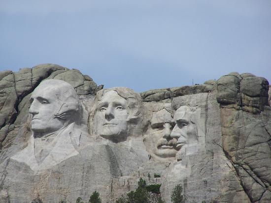 Mt rushmore view from the observation deck picture of for Mount rushmore history facts