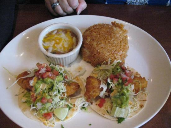 Yard House - Red Rock Casino : Street Tacos with Rice and Beans