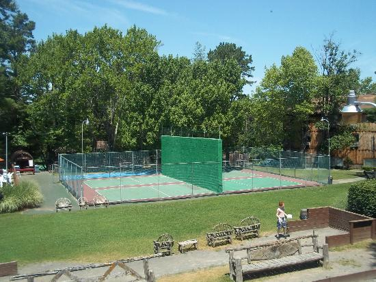 Pinegrove Family Dude Ranch : Courts as seen from our room hallway