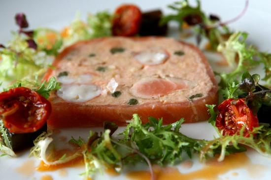 Friends Restaurant: Terrine of salmon and marron