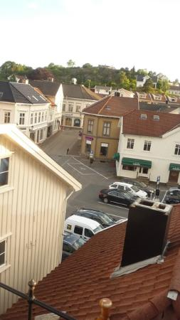 Cafe Ibsen Bed & Breakfast: View into town from the balcony