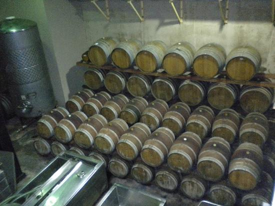 Sand Castle Winery: barrels
